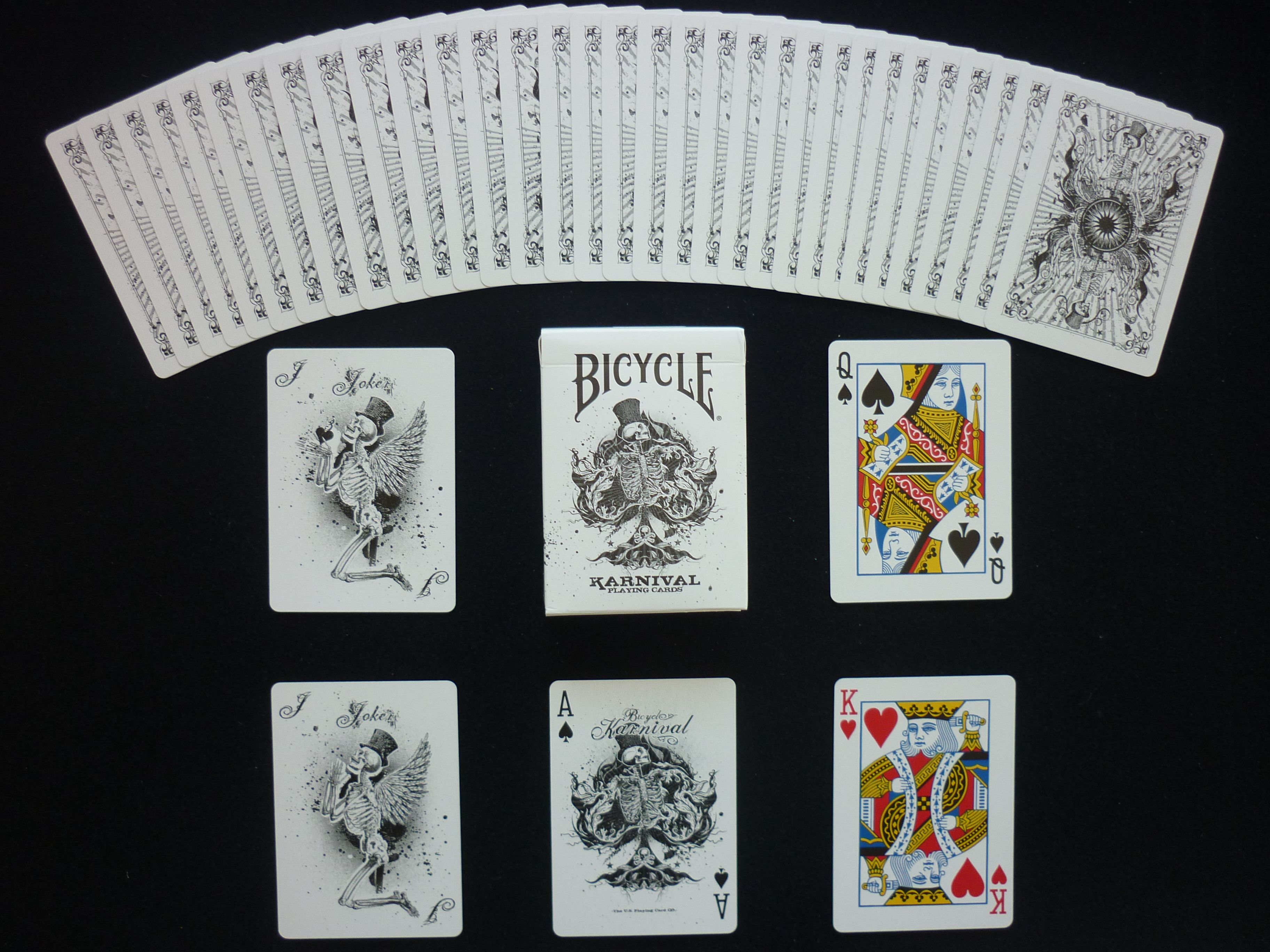 Karnival Assassins Black Deck Bicycle Playing Cards Poker Size USPCC Limited New