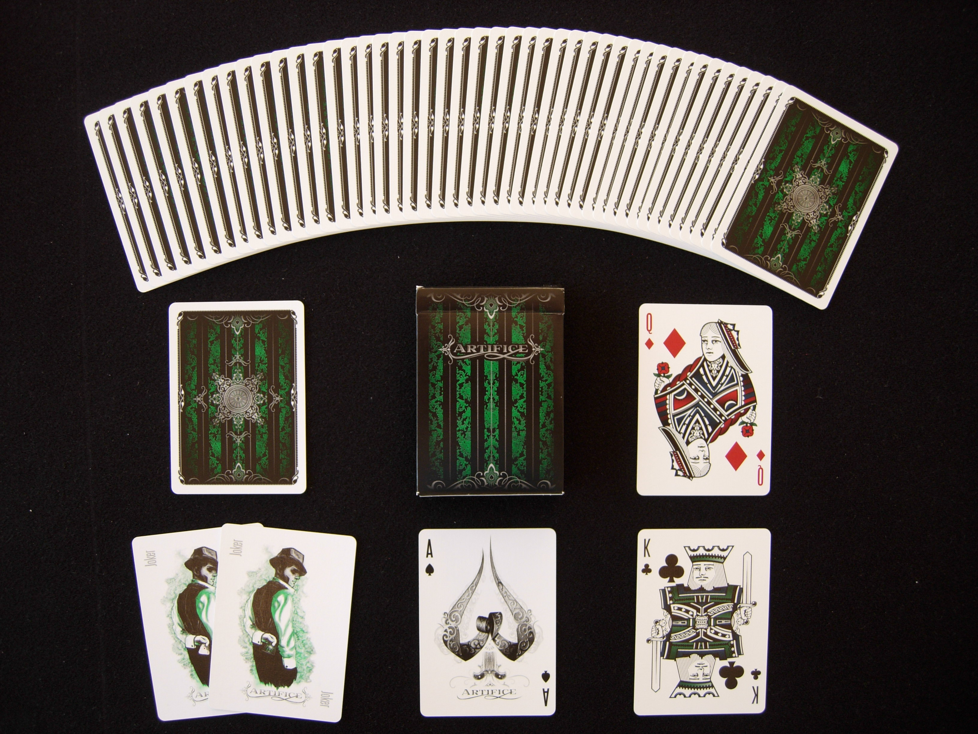 Ellusionist ARTIFICE Blue, Green & Purple Playing Cards ...